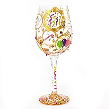 Hand-painted Artisan Wine Glass