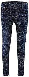 Fs Mini Klub Girls' Regular Fit Trousers (88Kgbfb0396 Dk Wash_12-7 - 8 Years, Blue, 7 - 8 Years)