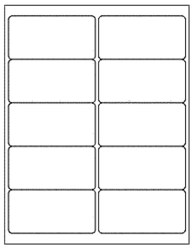 """1,000 Generic White Self Adhesive Mailing Labels 2 X 4"""" (Avery #5163 Size) Shipping Labels"""