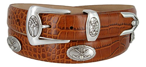 BC3109- Italian Calfskin Leather Designer Golf and Dress Belt For Men (ATAN,46)