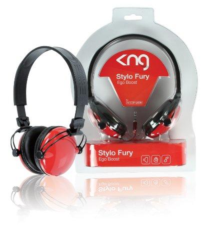 KNG Stylo Ego Boost Designer Headphones - Red