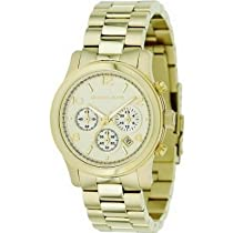 Hot Sale Michael Kors Midsized Chronograph Gold Tone Womens Watch MK5055