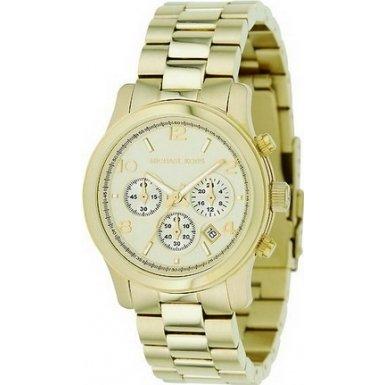 Michael Kors Midsized Chronograph Gold Tone Womens Watch MK5055
