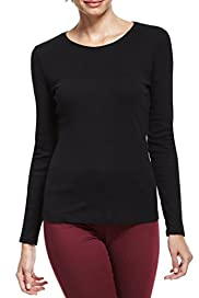 Pure Cotton Crew Neck Top with Stay New� [T41-4903-S]