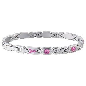 Buy Sabona Lady Courageous Pink Ribbon Magnetic Bracelet by Sab