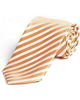 Cravate de Fabio Farini à rayures en orange blanc