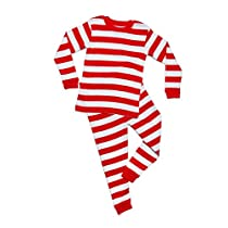2 Piece Striped Pajama Red & White 10 Years