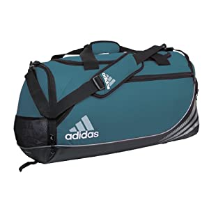 adidas Team Speed Small Duffel, Forest (12 x 22 x 12-Inch)