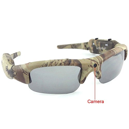 WiseupTM 8GB 1280x720P HD Wearable Hidden Camera Camouflage Hunting Glasses Video Recorder Mini DV Audio Recording