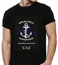Dmovlov Men's Cotton T-Shirt (D3RN0XL0B _Black_38)