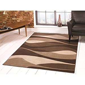 Flair Rugs Sincerity Modern Contour Rug, Brown, 160 x 230 Cm from Flair Rugs