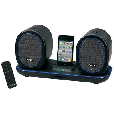 Jensen Jiss-600I Docking Digital Music System With Wireless Speakers For Ipod And Iphone