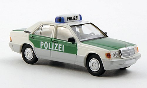 Mercedes 190 E (W201), Polizei , Modellauto, Fertigmodell, Brekina Starmada 1:87