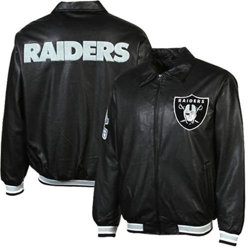 Oakland Raiders GIII Faux Leather Jacket (Medium)