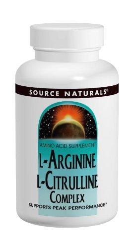 Source Naturals L-Arginine L-Citrulline Complex, 120 Tablets