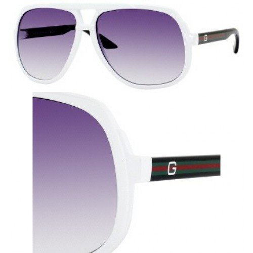 GUCCI 1622/S Sunglasses 1622S White Black OVE/LF Shades