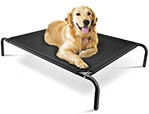 "Oxgord ""Travel Gear Approved"" Steel-Framed Portable Elevated Pet Bed Cat/Dog, 43.5 by 29.5"", Black"