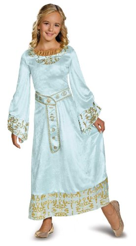 Disguise DI71797_M Maleficent Aurora Blue Dress Deluxe Costume For Girls Medium