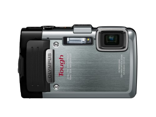 Olympus Stylus TG-830 iHS Digital Camera with 5x Optical Zoom and 3-Inch LCD (Silver)