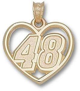 Logoart Jimmie Johnson 10K Heart Pendant by Logo Art