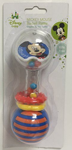 Mickey Mouse Barbell Rattle - 1