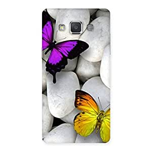 Ajay Enterprises Butterflies white stones Back Case Cover for Galaxy Grand 3