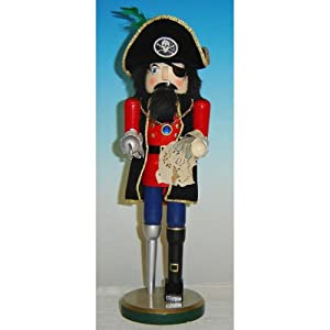 Horizons East Pirate with Map Nutcracker, Wood