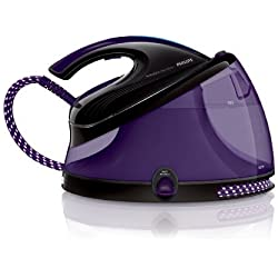 Philips PerfectCare Aqua Silence - Centro de planchado, autonomía ilimitada, OptimalTemp, 6,2 bares, vapor continuo de 120 g/min, 2,5 l, color morado