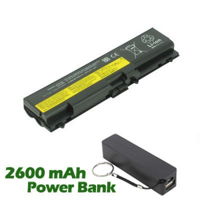 Battpit� Laptop / Notebook Battery Replacement for Lenovo ThinkPad T530 2429-70U (4400 mAh) with 2600mAh Power Bank / Foreign Battery for Smartphone.