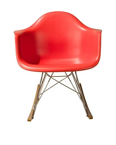Macer Home Eiffel Rocking Arm Chair, Red