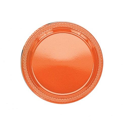 "AMSCAN INC. 7"""" Orange Plastic Plates  - 1"