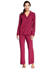Heatgen™ Revere Collar Sparkle Thermal Pyjamas