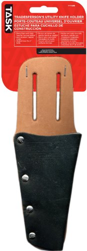 Task Tools T77285 Tradesperson'S Leather Utility Knife Holder