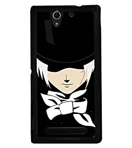 Fuson Premium Mr Holmes Metal Printed with Hard Plastic Back Case Cover for Sony Xperia C3 Dual