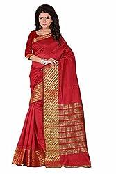 sr Product Womens cotton fancy saree(maroon)