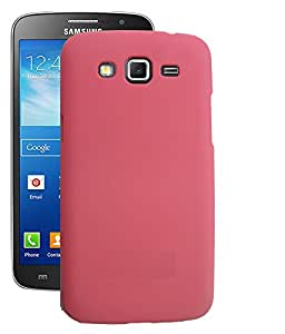 Quantric premium rubberized hard back case/cover (matte finish) for samsung galaxy grand 2 pink
