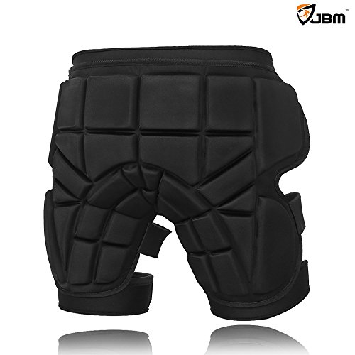 JBM Extra Large 3 Sizes Hip Padded Shorts Adjustable Protective Gear for Multi-sports Purpose: Snow Skiing, Hockey, Skateboarding, Snowboard, Riding (Padded Snowboard Shorts compare prices)