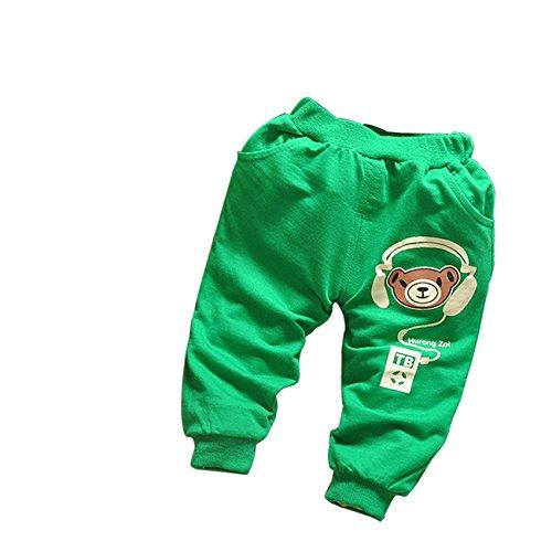 Little Hand Baby Boys' Cute Comic Bear Elastic Long Trousers Pants front-942705