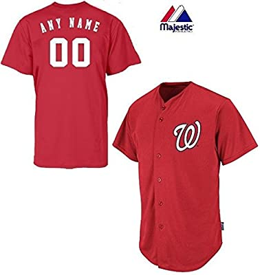 Washington Nationals Full-Button CUSTOM or BLANK BACK Major League Baseball Cool-Base Replica MLB Jersey