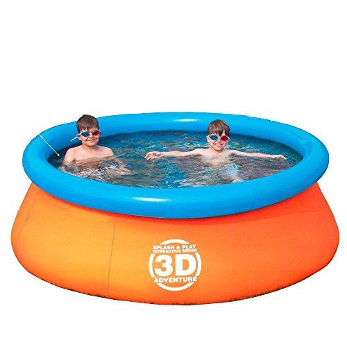 世界初!? 付属の金貨で3Dの中、宝探し!3D海賊宝探しプール 子供用 水遊び3Dアドベンチャープール