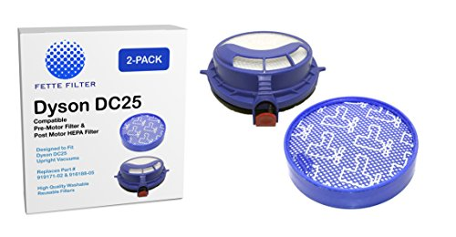 Big Save! Dyson DC25 Prefilter and Post Motor HEPA Filter. Fits all DC25 Models - Compare to Part # ...