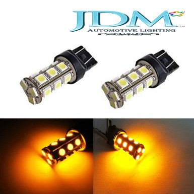 Jdm Astar 18-Smd 7440 7443 T20 Led Turn Signal Light Replacement Bulbs, Amber Yellow