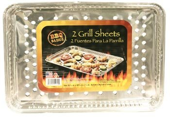 Bbq Grill Sheet Pan With Vented Bottom, Pack Of 2 (10X15)