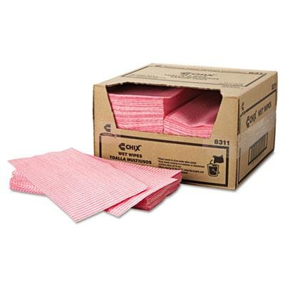 Brand New Chix Wet Wipes 11 1/2 X 24 White/Pink 200/Carton front-927109