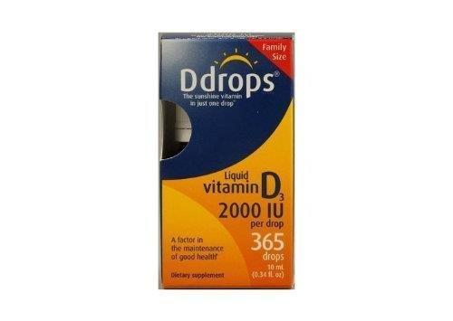 Vitamin D3 2,000IU 365 Drops 0.34 Ounces by Ddrops (Ddrops 2000 compare prices)