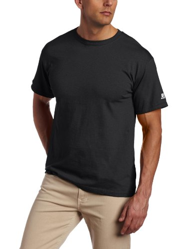Russell Athletic Men's Basic T-Shirt, Black, Large