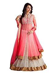 The Desi Attire Pink Color Net Lehenga Choli For Women ( Embroidered Lehenga Choli for Women _ lehenga for wedding)