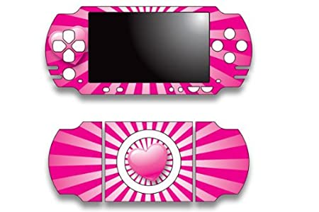 Sony PSP Slim Skin Decal Sticker - Heart Pink