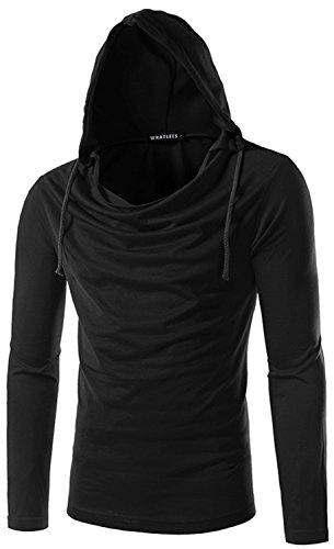 What Lees Unisex Long Sleeve Solid Pullover Hoodies Shirts B093-Black-XL (Louis Vuitton Cap compare prices)