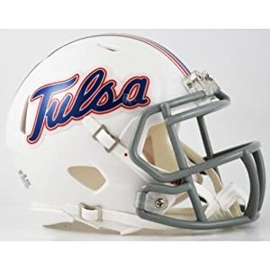 TULSA GOLDEN HURRICANE NCAA Riddell Revolution SPEED Mini Football Helmet (WHITE) by ON-FIELD